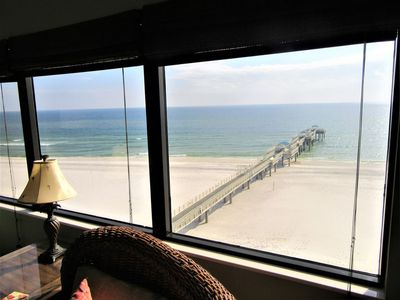 Photo for Pier!! Book Four Seasons 703W & Use a private fishing pier! Direct Gulf View