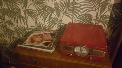 old school  record player