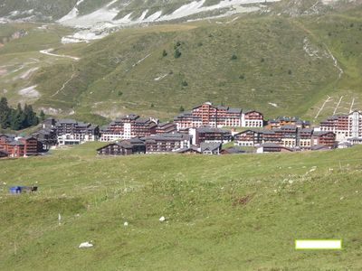 Photo for Beautiful high Belle Plagne apartment facing south at the foot of the slopes