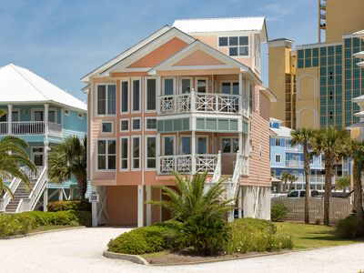 Photo for Sunny, Gulf view getaway w/ multi-level decks, a shared pool, & tennis courts