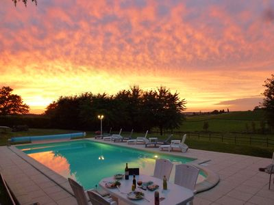 Photo for Beautiful Converted Barn, Sleeps 10, Private Pool & Garden With Wonderful Views