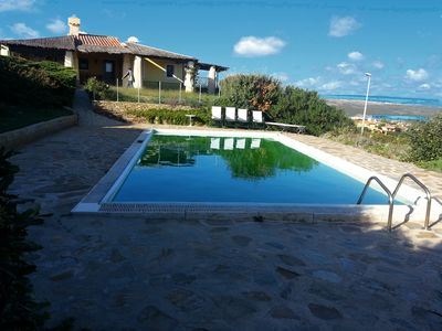 Photo for Villa Fresia with garden and private pool, sea view, 9 p. the.