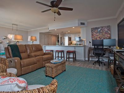 Photo for REMODLED 2/2 - ON THE BEACH – LARGE POOL – TENNIS COURTS – PRIVATE PATIO