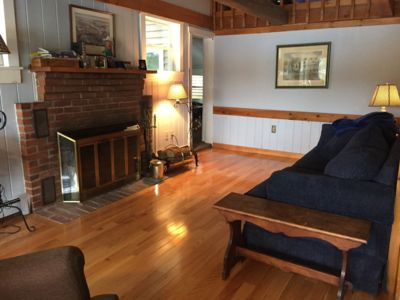 Photo for Woodsy lakehouse near NH ski country