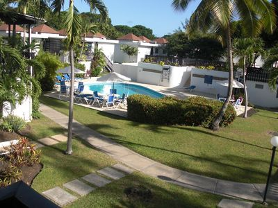 Photo for Holiday apartment with a beautiful view of the golf course and pool