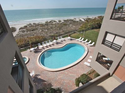 Photo for Great Beachfront Location, Walk to Restaurants! Pool, Hot Tub, Free Wi-Fi & Cable - 103 Pier House