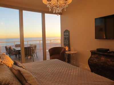 Sunset view of the Gulf from the master bedroom