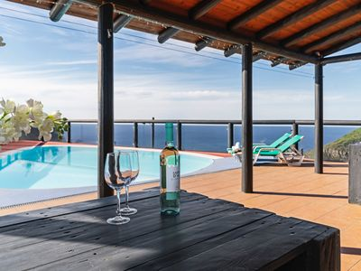 Photo for Unique tranquil location with outstanding panoramic sea-view   Top of the Cliff