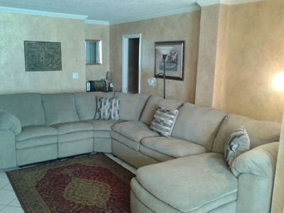 Photo for GREAT LOCATION- 1 BR/2 Bath Direct Oceanfront Condo- Free Wi-Fi  In room