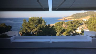 Photo for Balearic Islands - Sea view. Terrace 40 sqm. Living room 60 sqm. Renovated. 3 rooms