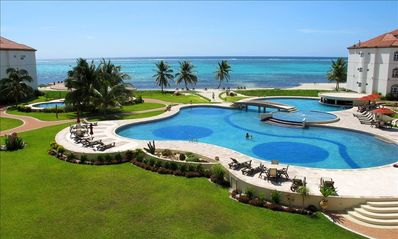 Largest fresh water pool in Belize with 2 smaller pools & 2 hot tubs!