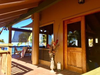 Photo for Traditional Hawaiian Pole House Nestled On 100 Ft Oceanfront Paradise!