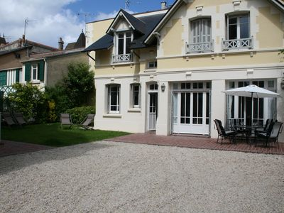 Photo for Charming villa of the Golden Triangle of Deauville (town center and beach).