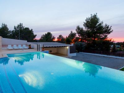 Photo for Villa with amazing sunset and at 500 m from the beach