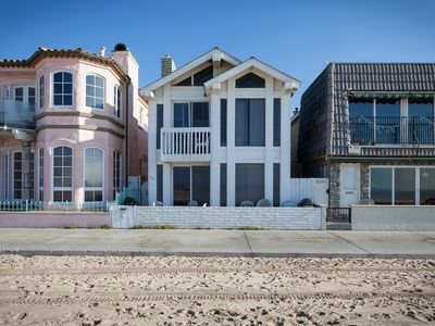 Photo for Oceanfront Lower Unit, Beachfront Patio, Walking Distance to Newport Pier!