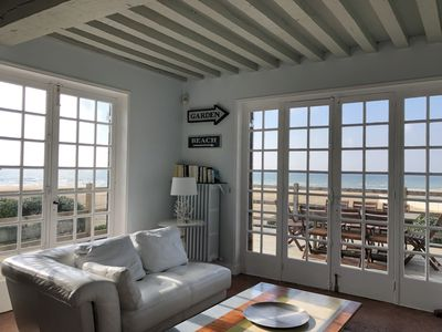Photo for Typical Norman house on the beach - sea view - big garden - perfect location