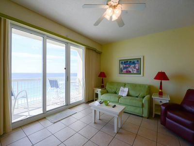 Photo for Charming Vacation Rental, Gulf-front balcony, Beach setup included, On the beach