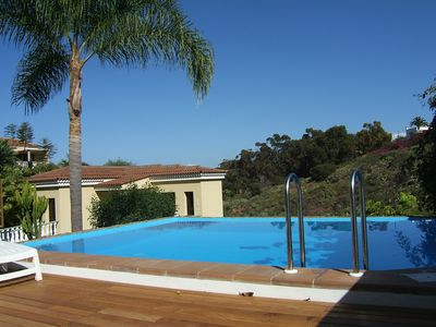 Photo for very quiet location, with 2 terraces, pool, barbecue area, right on the nature reserve
