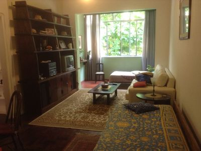 Photo for In Copacabana, spacious and airy living room 2 bedrooms, c view p beach 3 windows