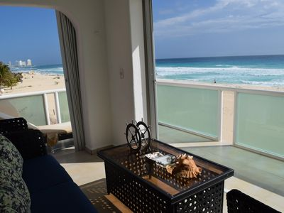 Photo for Amazing Beach Front Apartment, Sleeps 8