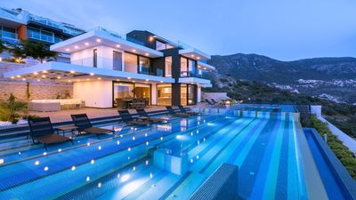 Photo for Villa Hurriyet bedroom luxury private villa overlooking Kalkan and Kalamar Bays. This property offer