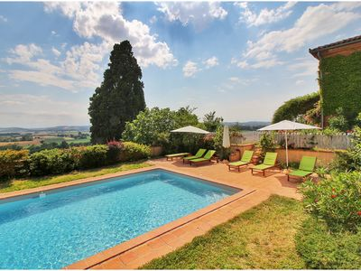 Photo for House with swimming pool, panoramic view near Toulouse.
