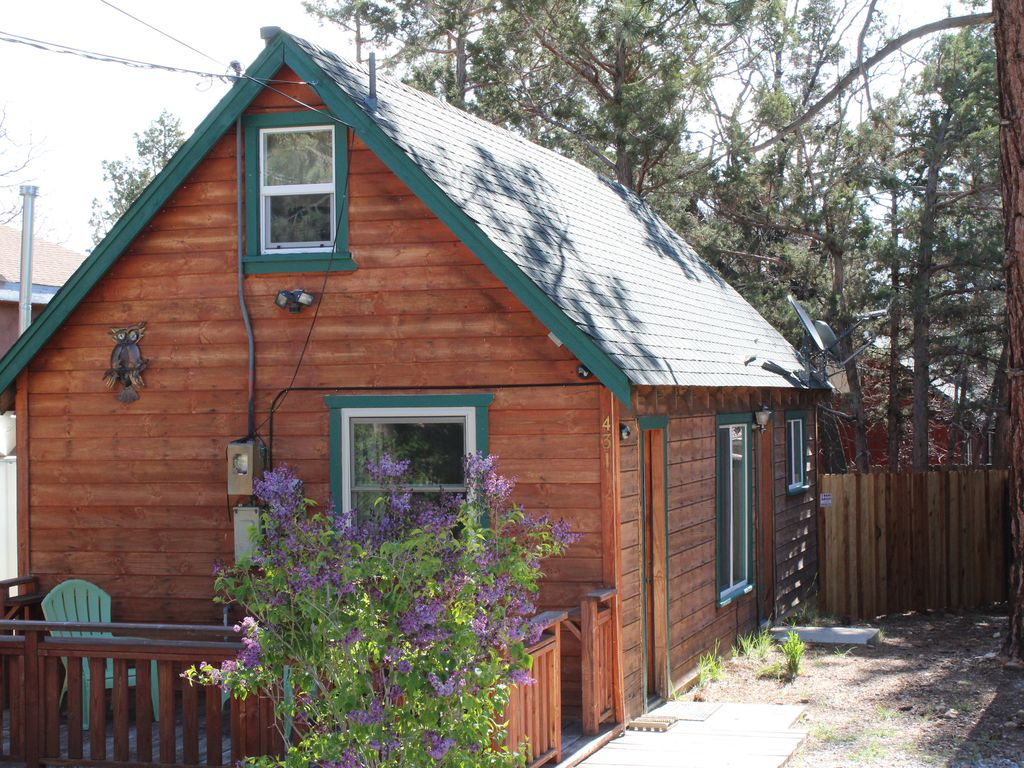 Rehabbed air cond heat 1 bdrm boutique cabin near ski for Big bear 2 person cabin