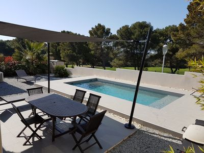 Photo for Villa on the Cap d'Agde Golf with heated pool.
