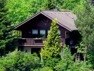 Photo for Alpine wooden chalet by the forest, full of charm and style, dogs welcome
