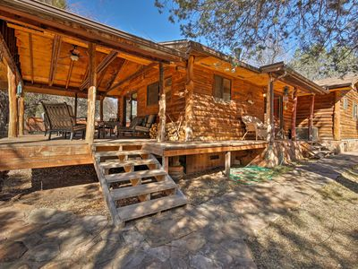 Photo for Rustic Cabin w/Fire pit-Steps from E. Verde River!
