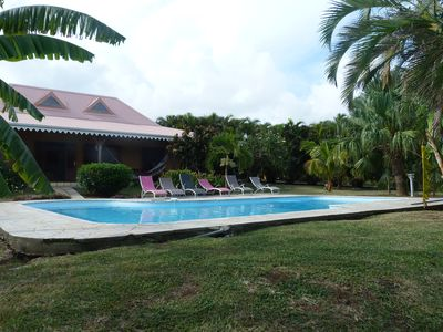 Photo for Pretty Creole villa by the sea, swimming pool, 8 people, quiet residential area