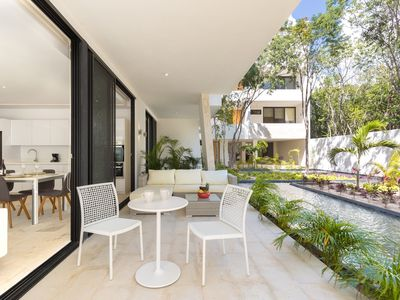 Photo for Stunning zen garden apartment with private pool and wrap around terrace
