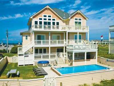 Photo for Oceanfront Dream Island Vacation-Pool, Hot Tub, Theater & Game Rms, Dog-Friendly