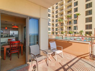 Photo for Waterview Origin condo with a shared pool and hot tub, beach across the street!