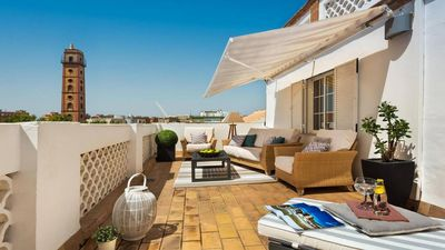 Photo for NEW! CENTRAL PENTHOUSE WITH PRIVATE TERRACE + WiFi + A/C