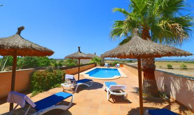 Photo for The house Alcoraia Wi-fi, Pool, Garden, 10 Minutes From the beach Es Trenc
