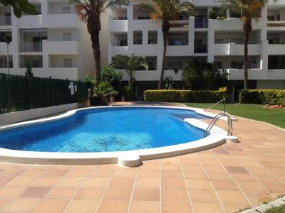Photo for Very well equipped apartment in a nice building with large garden area and pool