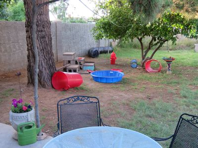 Photo for Happy Hippie Dog House - dog friendly, pet agility play yard-CHEMICAL FREE!