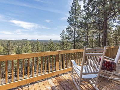 Oasis in the Pines- large deck with view, pool & hot tub