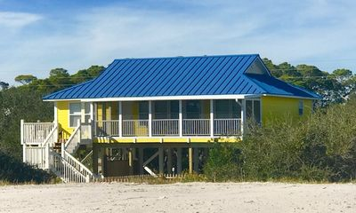 Photo for 3 BR 2 Bath Charming Beach Home - Coastal Crazy just steps from the Gulf of Mexico!