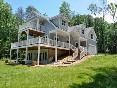 Photo for Waterfront living on the private side of Lake Anna 3+ acre estate! New Home!