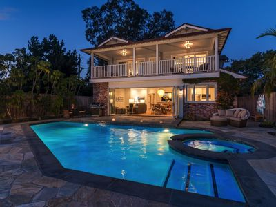 Photo for Ocean front home, next to beach access, heated pool and spa