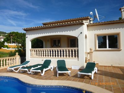 Photo for Detached Individual 3 bed Villa, Private Pool/Gardens, Quiet Area, UK TV, Wi Fi