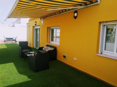 Photo for Penthouse Deluxe apartment in Bormujos with air conditioning, private roof terrace & lift.