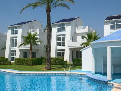 Photo for Beach front villa in a family friendly small community (9 units) with pool