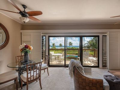 Photo for East Kauai w/ocean view lanai, open kitchen, WiFi, ceiling fans, TV, DVD–Kaha Lani 209