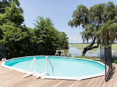 Photo for Pet-Friendly Luxury home w/a pool, firepit and screened-in deck!