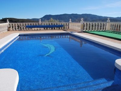 Photo for Tranquil 5 bedroom villa with private heated pool & beautiful view