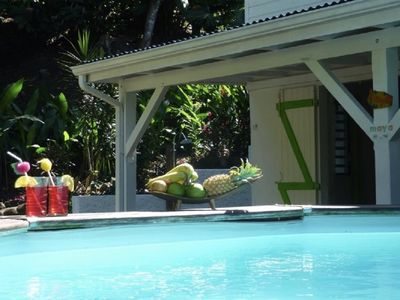 Photo for 2 COTTAGE WITH SWIMMING POOL IN TROPICAL NATURE-GRAND ANSE BEACH