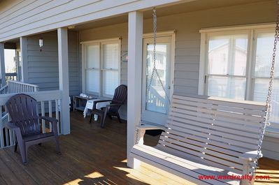 Front Sun Deck & Covered Porch